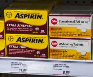 Comprimate efervescente de aspirină