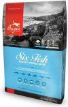 Sac de hrană uscată pentru câini Orijen Six Fish Grain Free Formula